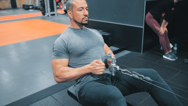 seated lat pull upper body workout